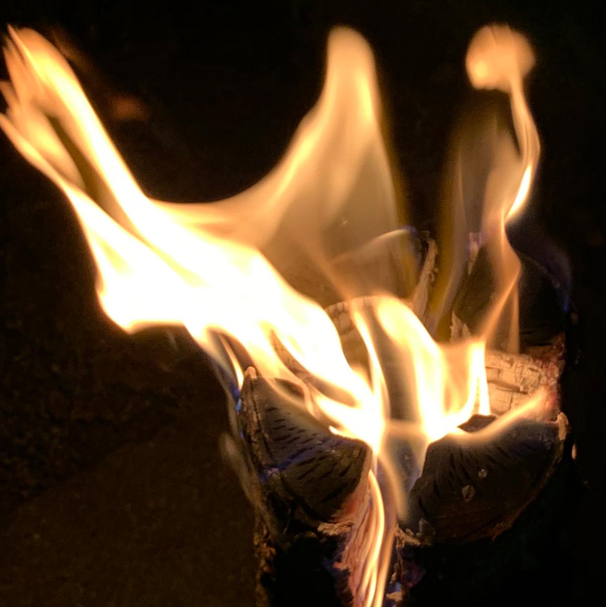 ぶっとい丸太が燃える高揚感は格別!初心者でも扱いやすい焚き火です。キャンドル一体型で一発着火、肉も焼ける「スウェディッシュトーチ」|Swedish Birch Candle(スウェディッシュ バーチ キャンドル)