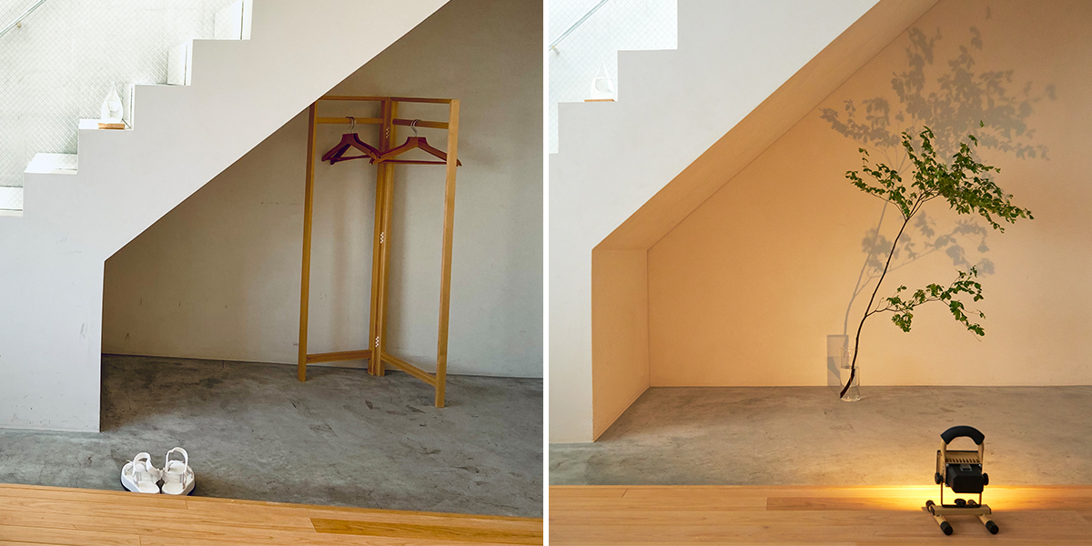 見慣れた部屋の壁を照らして、間接照明代わりに。|上下左右に自在に動いて、部屋も庭もドラマチックに照らしてくれる。スマホ充電もできる「LEDスポットライト」|RECHARGE LIGHT(リチャージライト)