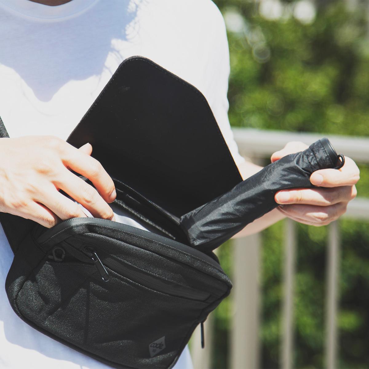 かさ張らず、いつもスマート。軽く、強く、折れにくい、カンタン収納設計、わずか17cmの世界最小級折りたたみ傘「マイクロ傘」|スギタ