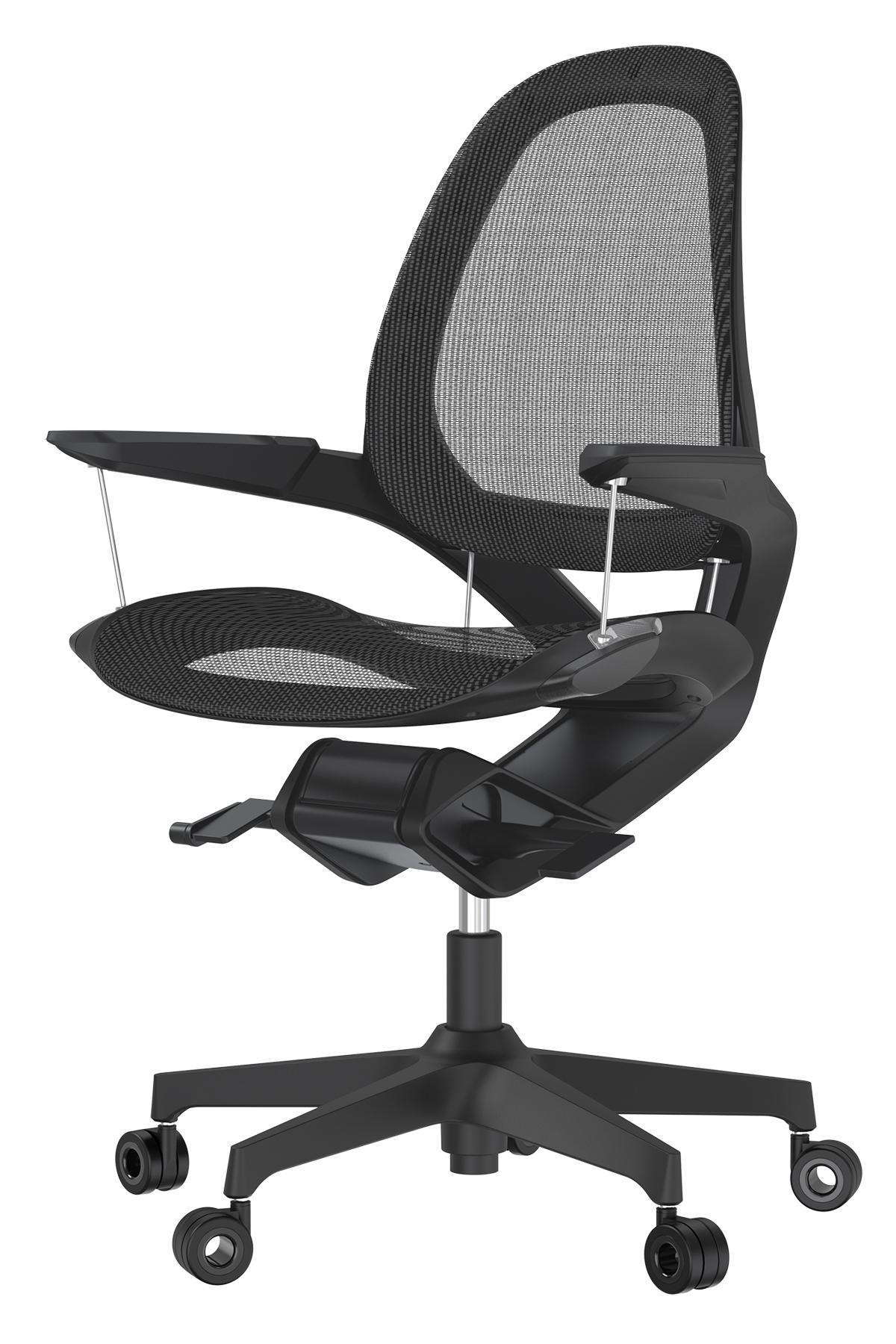 自然な動きで、あなたの仕事姿勢に沿ってくれます。座面が浮きながら動くワーキングチェア|Elea Chair