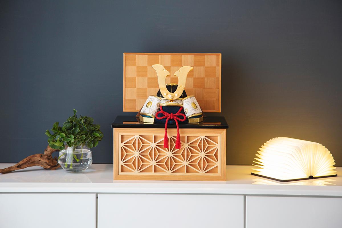 リビングや玄関に飾れる「プレミアム・コンパクト」6つの日本伝統工芸をコンパクトにした、木目込の「プレミアム・コンパクト五月人形」| 宝輝 | 柿沼人形