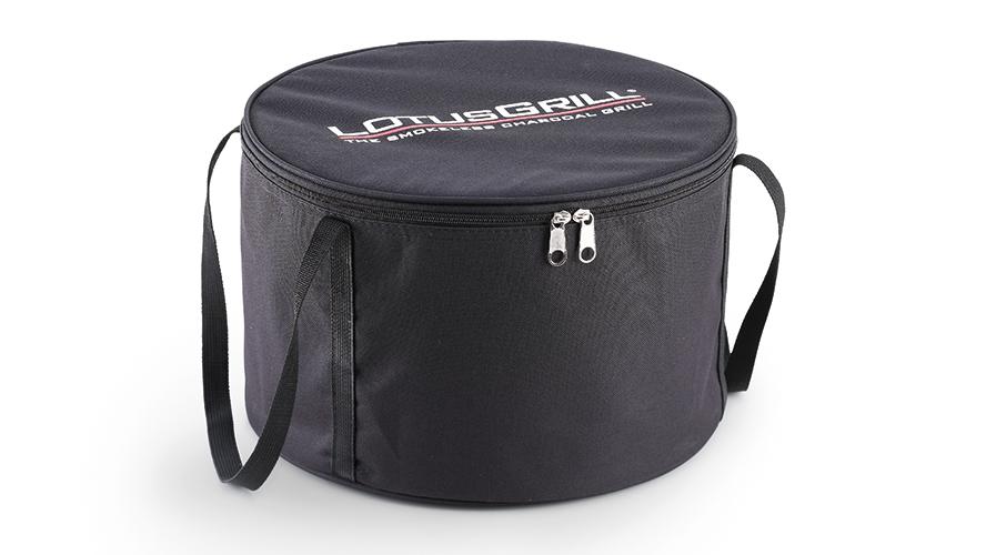 女性でもラクに運べる重さ。収納用の専用バッグ付きの煙が少ない火力調節ファン付きロースターの「炭火焼グリル」(コンパクト・軽い、ミニ、スモールサイズ)|Lotus Grill