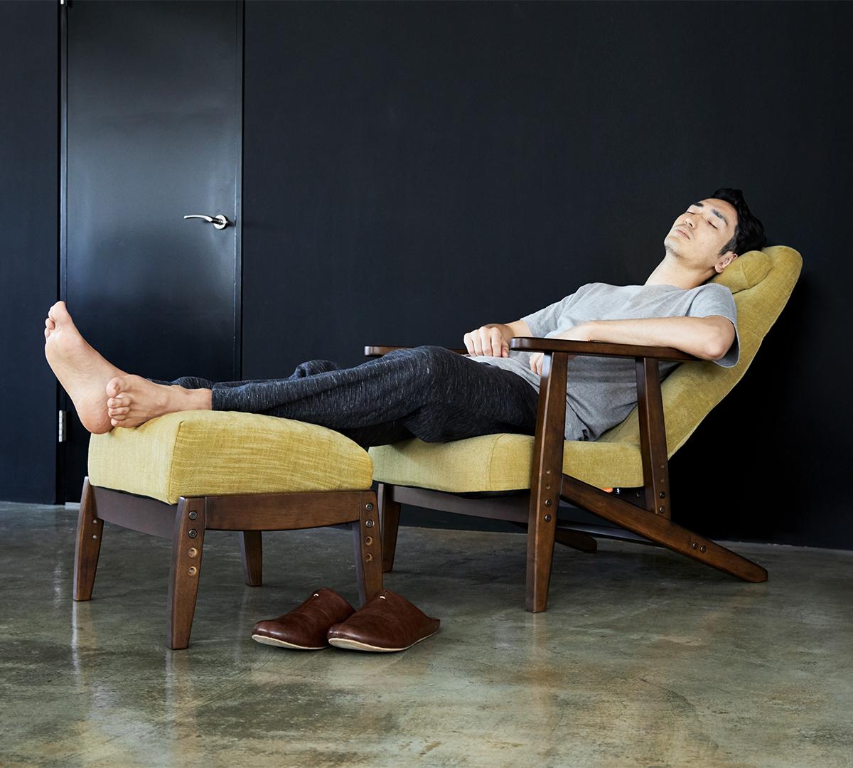 体にいい姿勢でリラックス!首も腰も好きな角度に調節できる寝椅子(リクライニングチェア)|P!nto