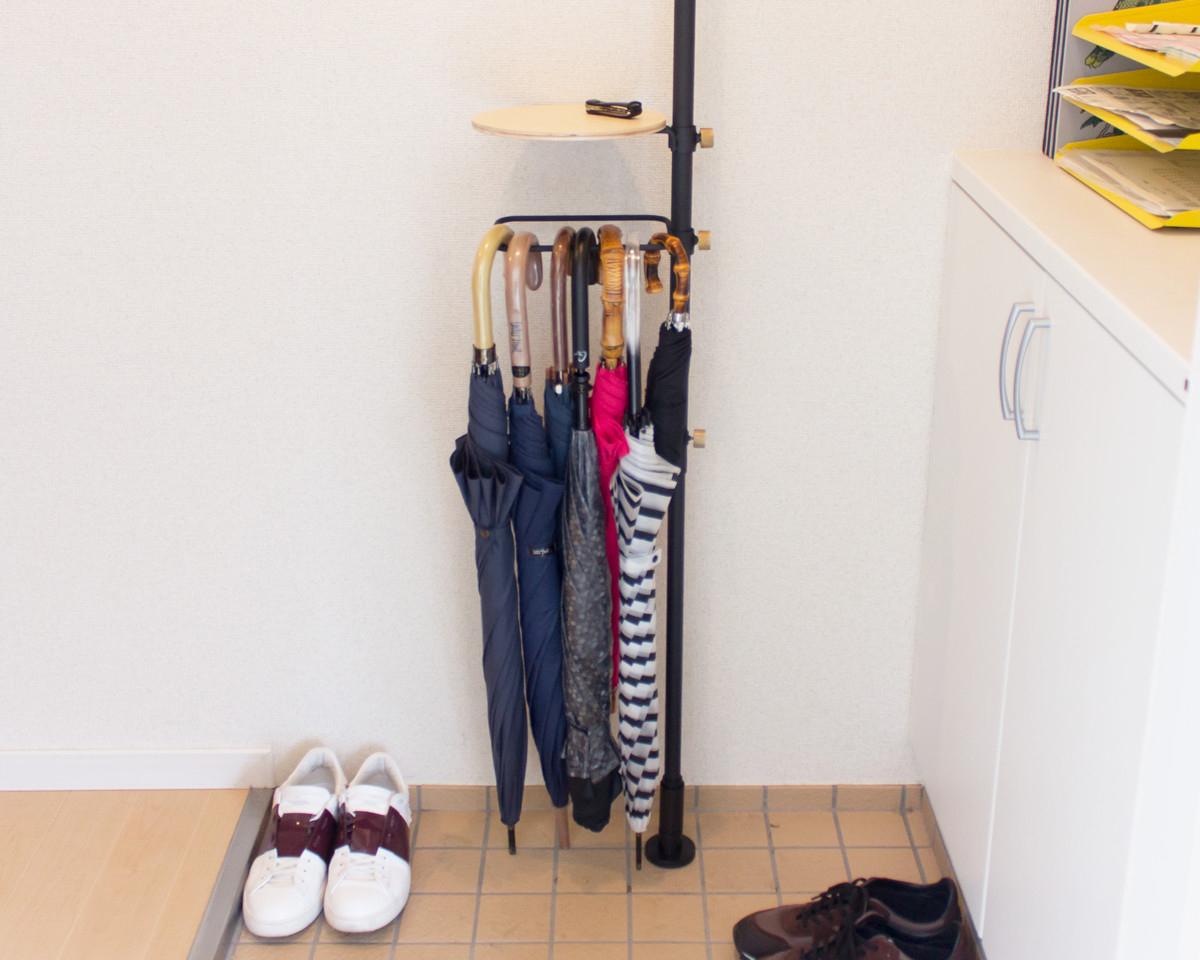 シューラックセット|1本の線(ライン)に、鍵もバッグも指定席ができる「つっぱり棒」|DRAW A LINE