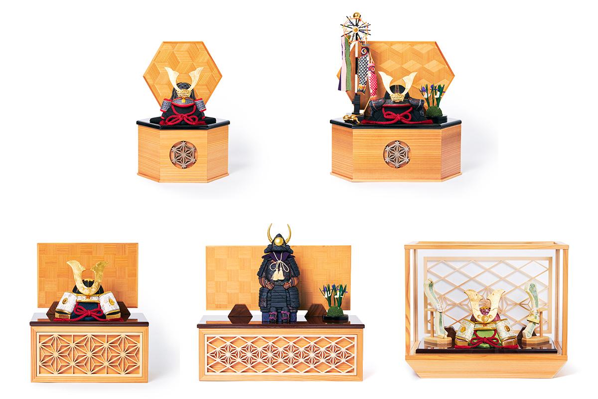 日本伝統工芸をコンパクト・モダンに。リビングや玄関に飾れる「プレミアム兜飾り・五月人形」