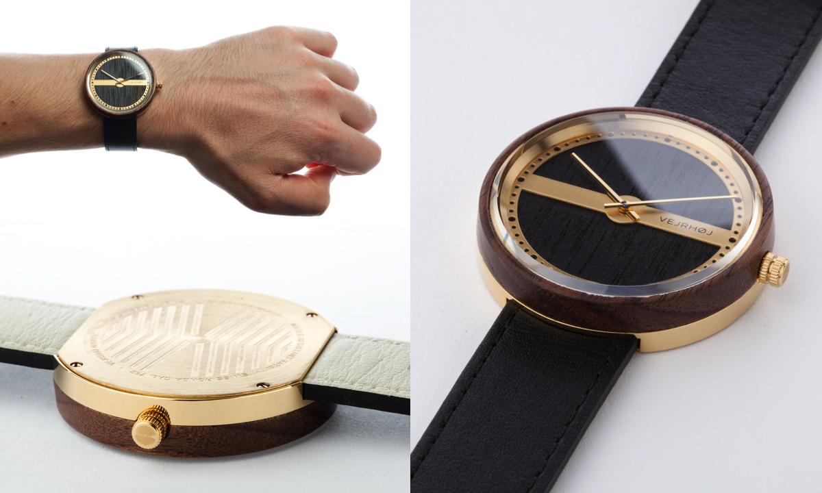 医療器具にも使われるサージカルステンレスと木を使った腕時計|VEJRHØJ