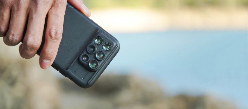 シャッターチャンスを逃さないiPhoneケース一体型のレンズ。6種類のレンズ・バッグ付きのコンプリートセット | ShiftCam 2.0