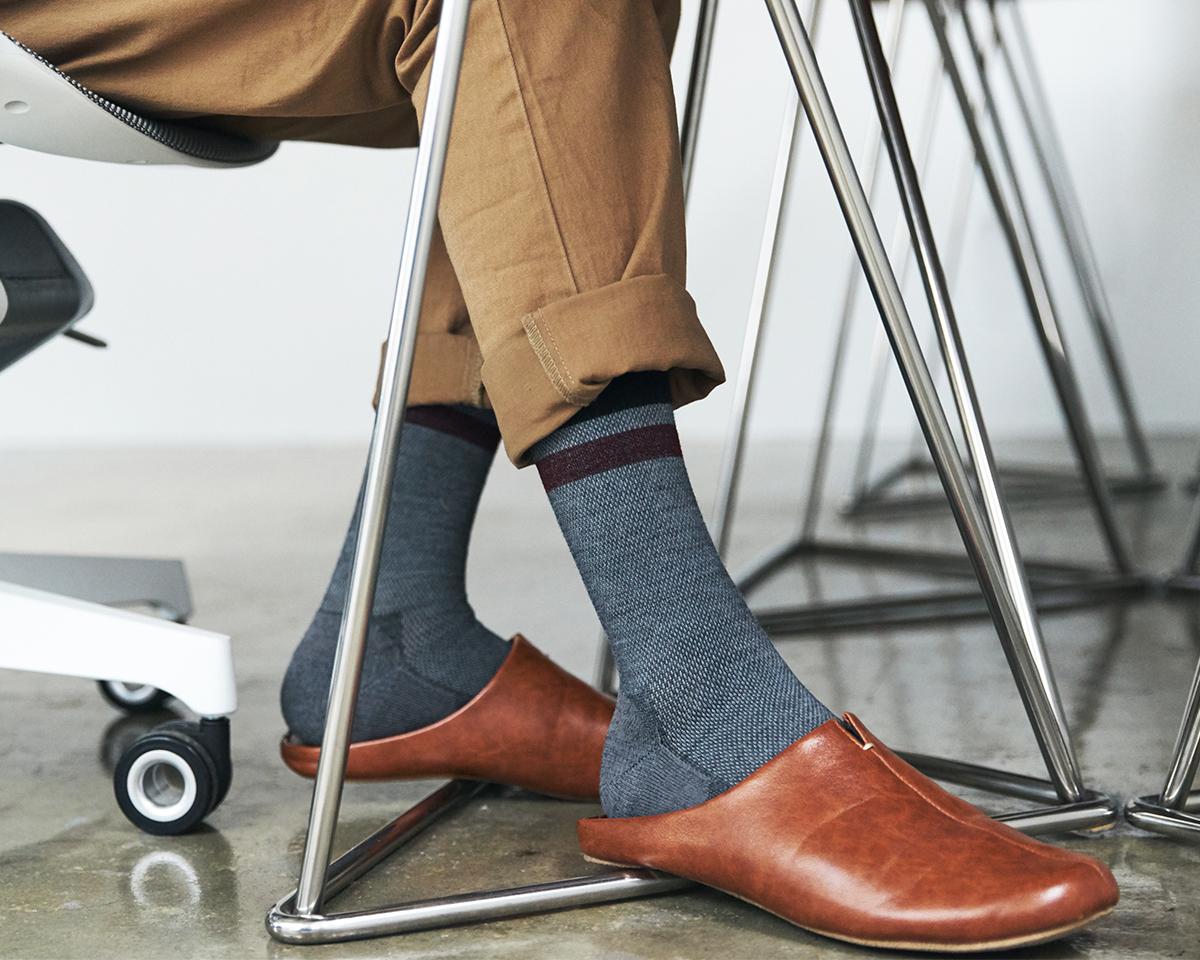 おしゃれで様々なファッションにあう。夏は涼しく冬は暖かいメリノウールを使用した、血液やリンパの流れをサポートする着圧ソックス(健康ソックス・靴下)|Sockwell(ソックウェル)