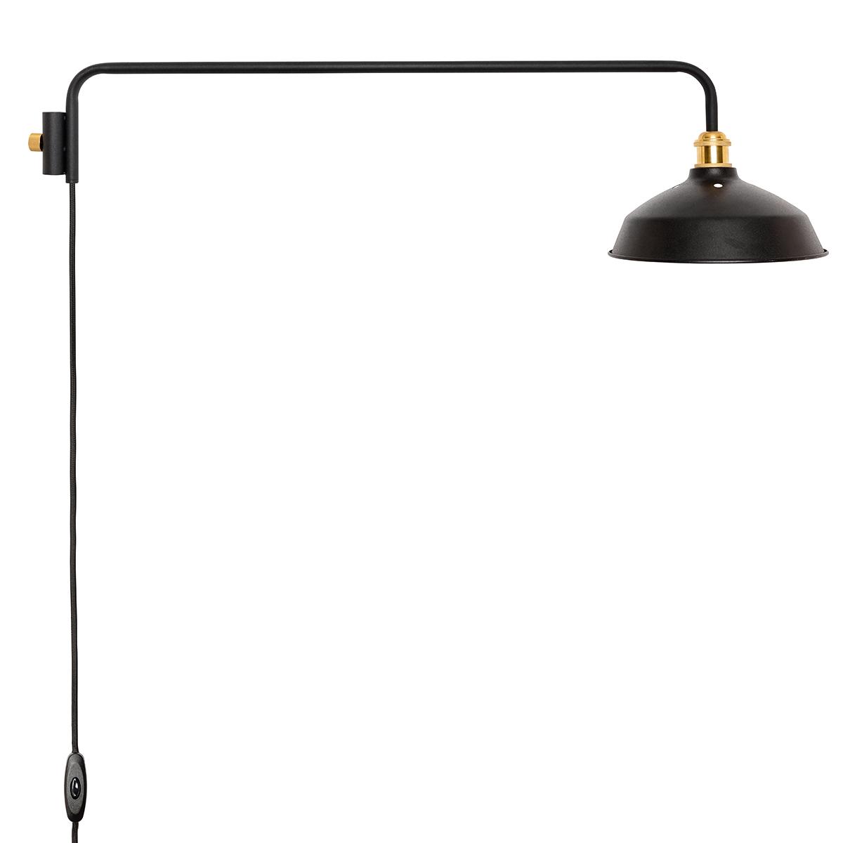 丸みあるシェードに、91.5cmの長めアームをくっつけた「ランプ」。照明とテーブルがセットできる「つっぱり棒」|DRAW A LINE ランプシリーズ