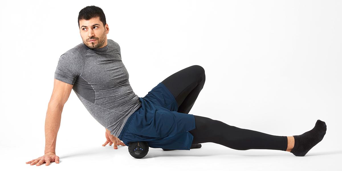 絶妙な重みで安定して転がせる。毎分4000回の振動で、筋肉を奥深くから揺さぶるストレッチボール|Dr.Air 3Dコンディショニングボール