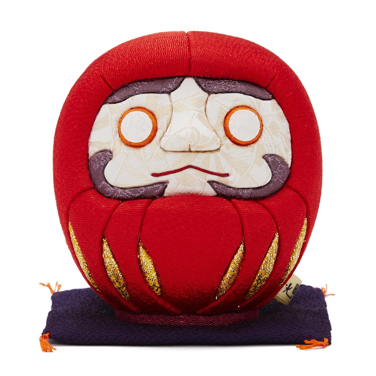 伝統の木目込み技術とモダンデザインが出逢った願掛けだるま 風水・赤|柿沼人形