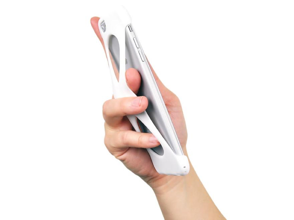 指を入れれば、落下しにくくなるiPhoneケース