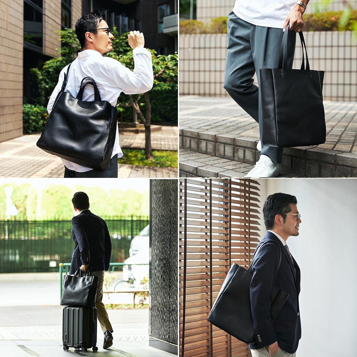 どんなファッションにもあう大人のデザイン|防水レザー、超軽量、直感ポケット付きの日本製レザーバッグ|PCバッグ・トートバッグ・リュック・バックパック|FARO(ファーロ)