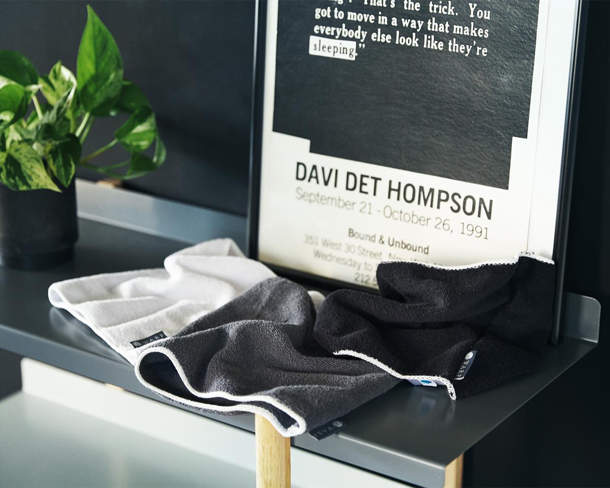 部屋干しでも臭わないネックゲーター|酸化チタンと銀の作用で、生乾き臭・汗臭の菌を除去する「タオル」|WARP