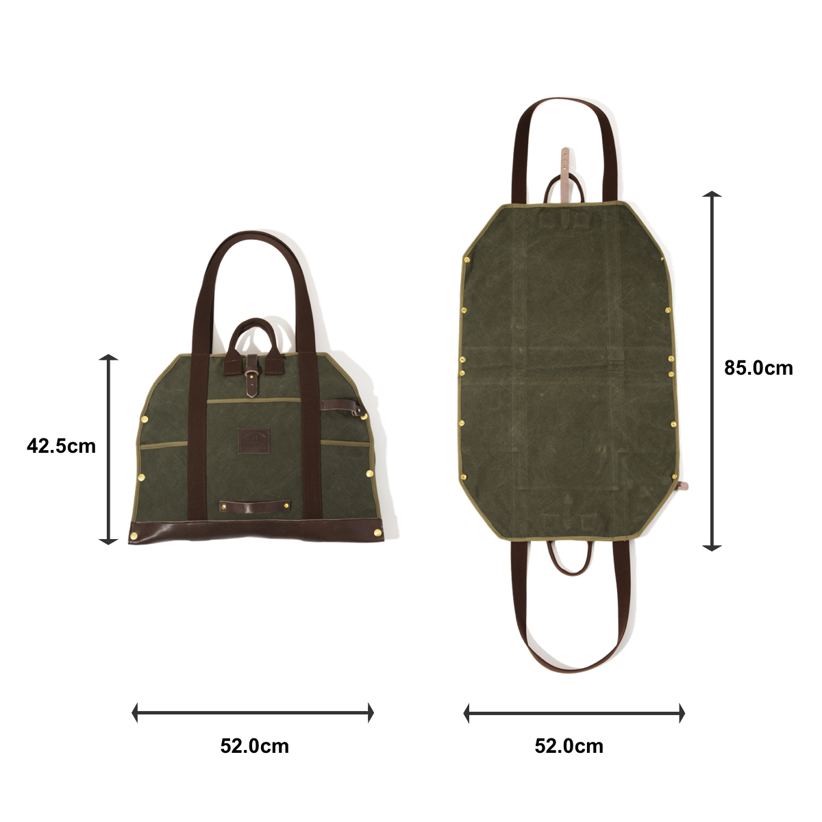「薪トート」のサイズ表|LAUGH WRINKLES×池之端銀革店