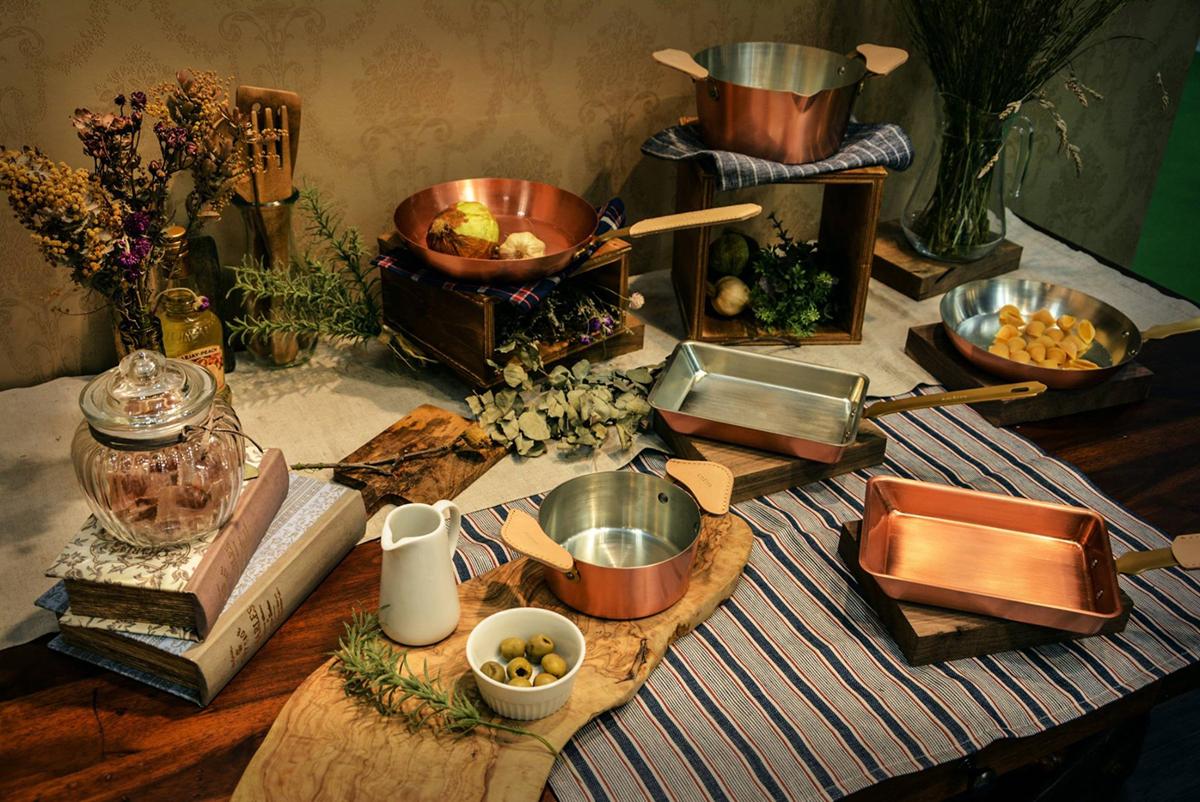 お洒落で料理が美味しくなる銅のフライパン、鍋、卵焼き器|ameiro