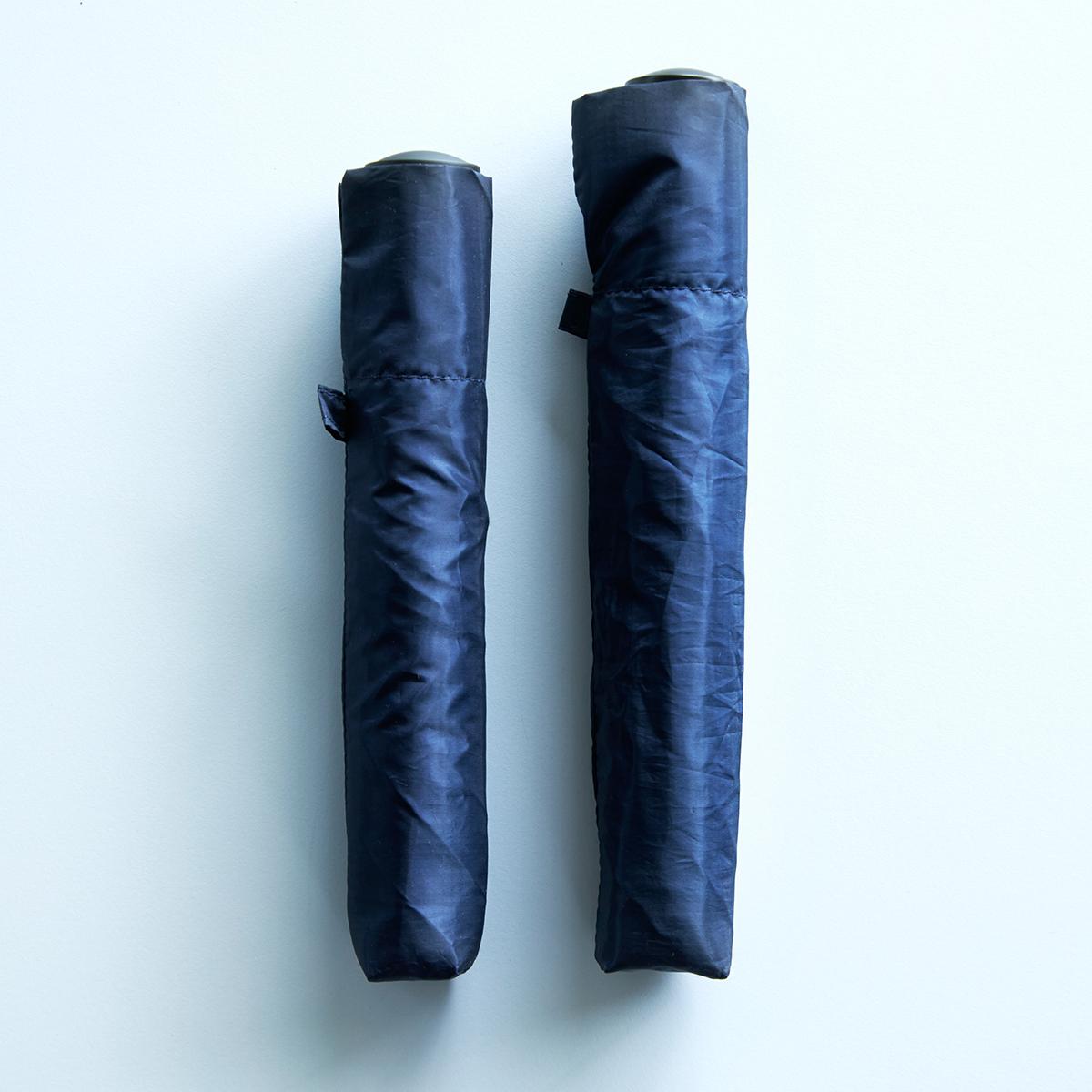 「Pentagon」は2つのサイズから選べます。水はじきバツグン、極細なのに耐風構造の「世界最軽量級折りたたみ傘」|Pentagon72