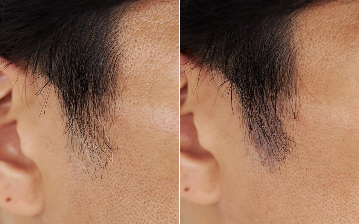 ヘアカラーしにくいもみあげや生え際に手軽にできる。丹波栗と天然インディゴで、天然由来の白髪隠し。リタッチヘアマスカラ uruotte(ウルオッテ)