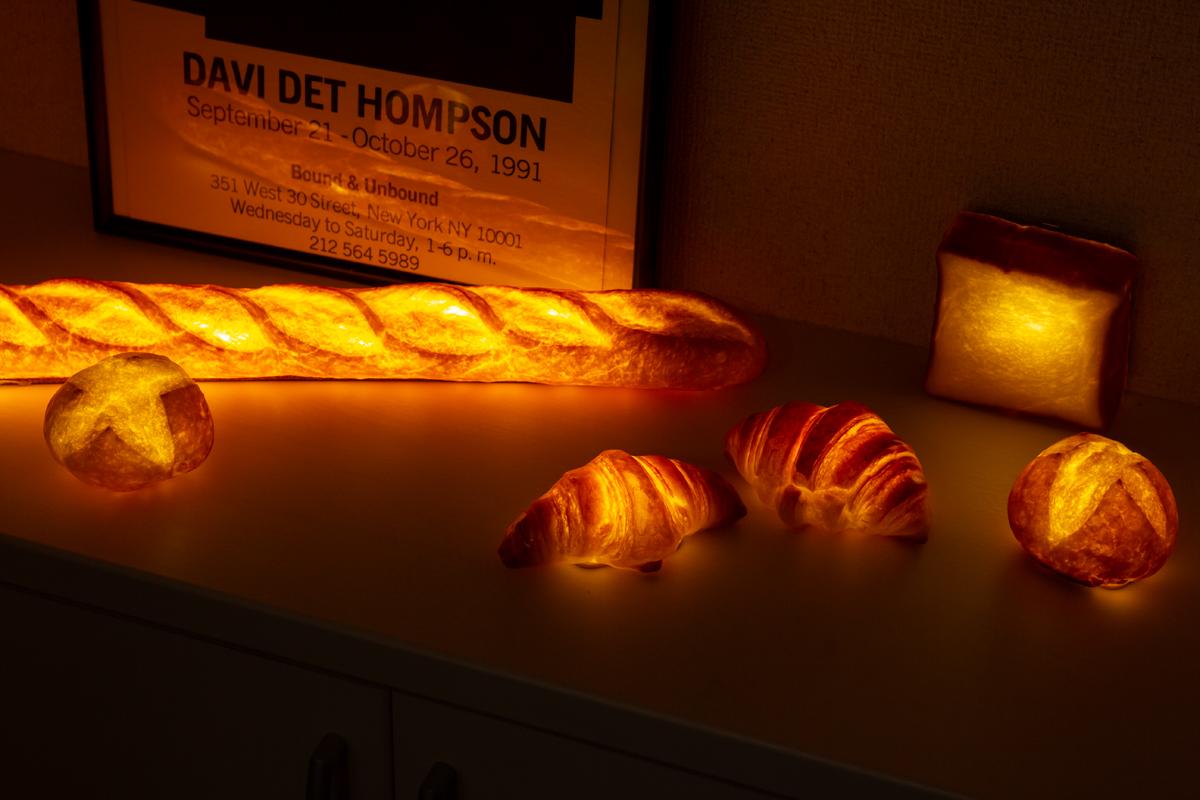 パンのまち・神戸で、こよなくパンを愛する女性アーティストの発想から生まれた「ライト・ランプ・間接照明」|モリタ製パン所「パンプシェード」