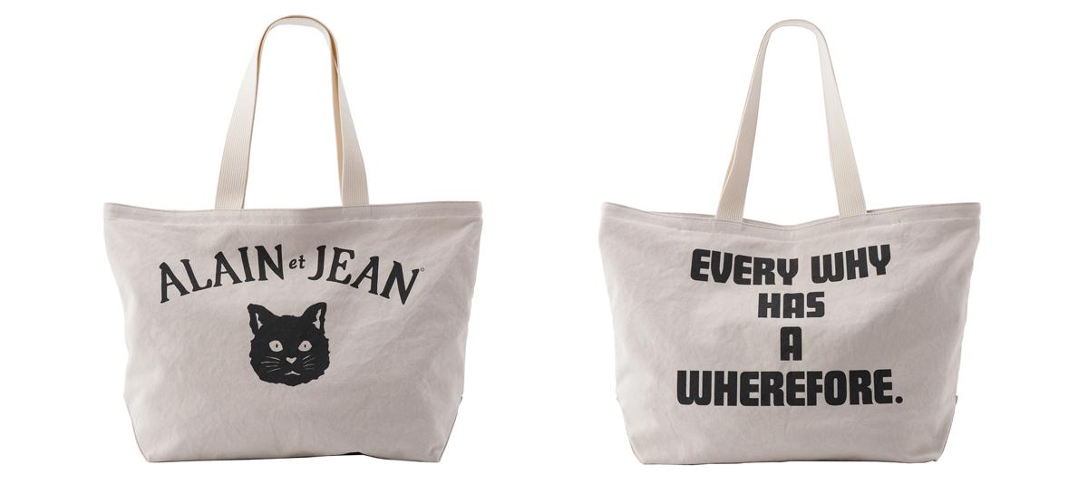 猫柄のキャンバストートバッグ