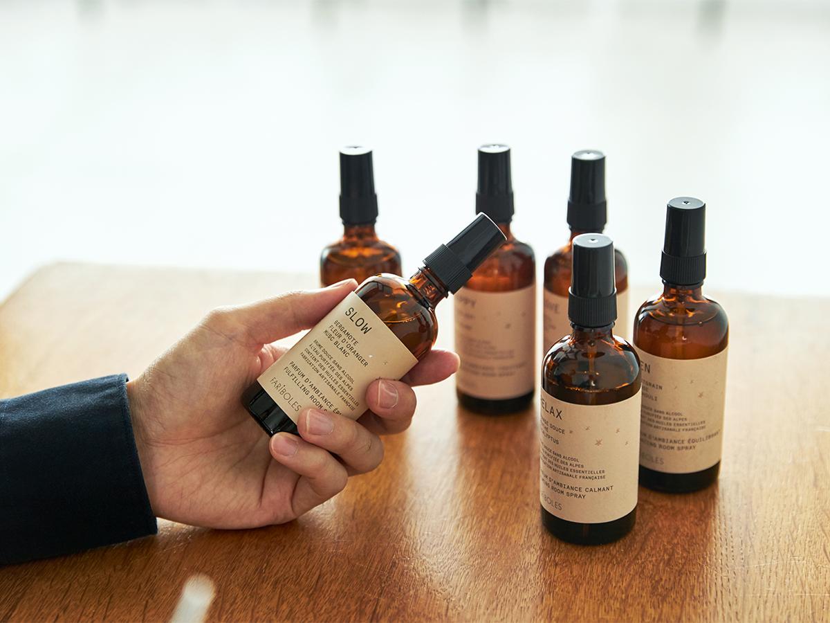 COOL、RELAX、SLOW、LOVE、HAPPY、ZEN。6つのイメージを描いた香り|南仏・グラース生まれのルームミストとキャンドル|FARIBOLES(ファリボレ)