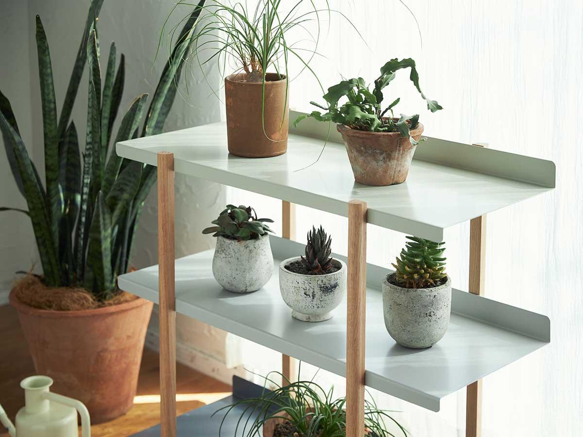 お気に入りの観葉植物や絵画、キャンドルに。色違いの棚板を入れ替えるたびに、新鮮な空間づくりができる「シェルフ(棚)」DUENDE Marge Shelf(デュエンデ マージ シェルフ)