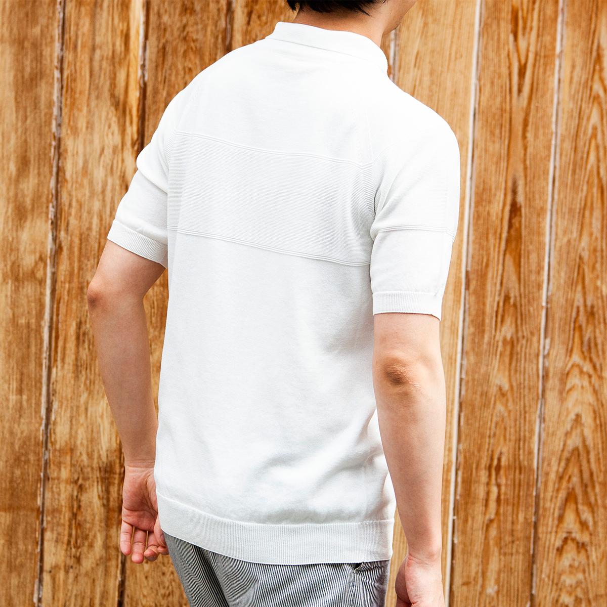 匂い物質を吸着して、消臭効果を発揮。汗でベタつかない、匂わない、綿より軽い!三拍子揃った「ニットポロシャツ」|伊予和紙ポロシャツ