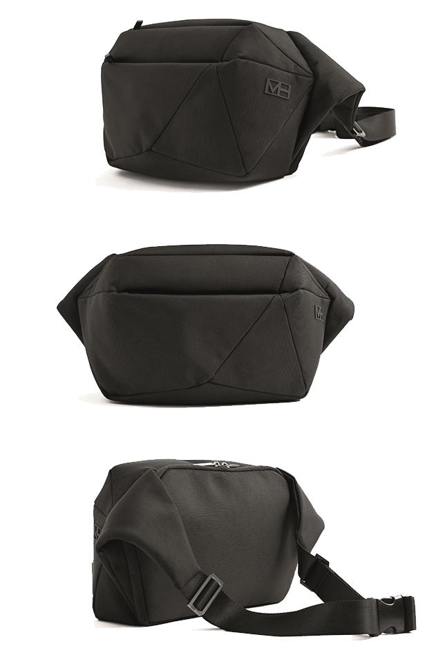 優しい使い心地まで計算された設計です。「石」から発想したミニマルデザイン、タブレットと上着を入れても型崩れしない「ボディバッグ」|STONE SLING(ストーン スリング)