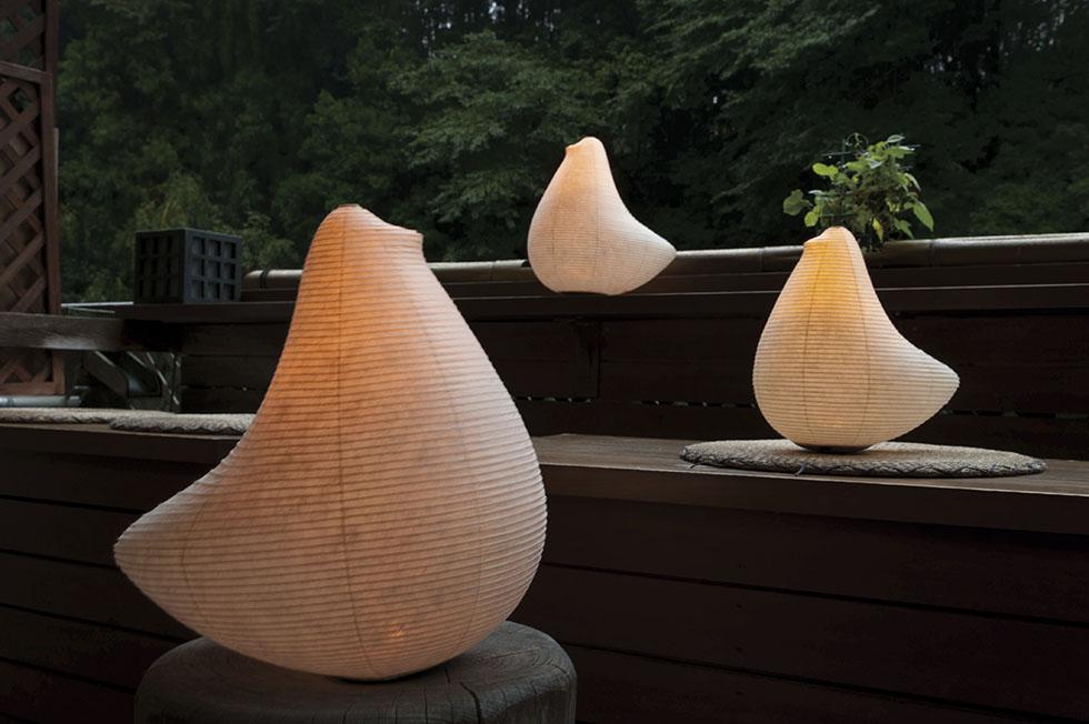 和室・洋室を問わず、モダンなリラックス空間になる提灯型ランプ(インテリア ライト 照明)|とり - 鈴木茂兵衛商店 SUZUMO CHOCHIN(すずも提灯)