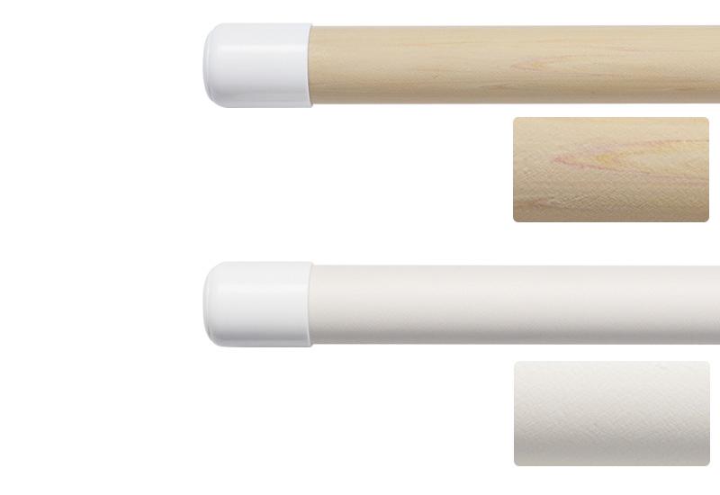 オーク木目とホワイトの2種類の物干し