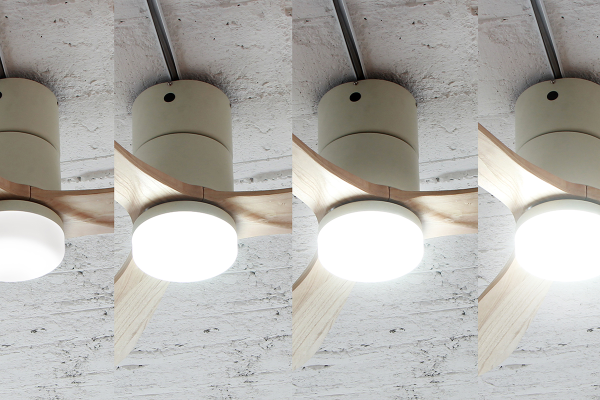 調光パターンは4段階。室温ムラを解消して、風通しがいい家をつくるシーリングファン