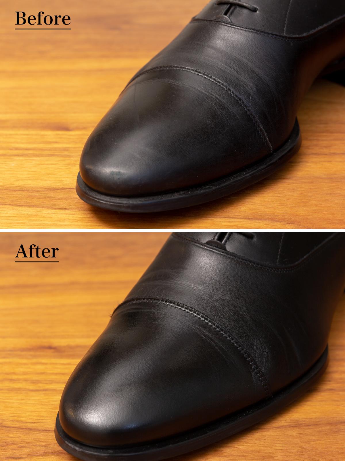 透明感のある凛々しい色味になる、染料ベースで透明感のある発色の靴クリーム| 三陽山長