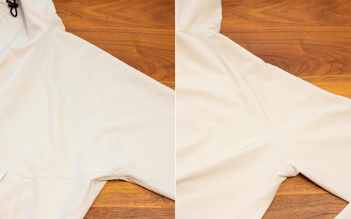 変形ラグラン袖|日中はサコッシュ、肌寒い朝晩はアウターに!水滴が滑り落ちる高撥水素材の「バッグ一体型パーカー」| SANYO ENJIN