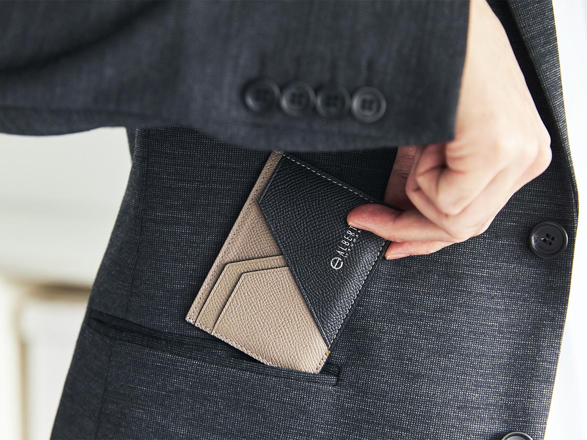 キャッシュレス化にぴったりなかさばらない財布。無理なくミニマムを極めた、「薄い財布」の傑作(長財布、二つ折り財布、パスケース、カードホルダー)|ALBERTE