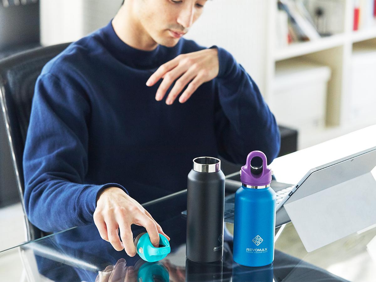 使った後のお手入れもラク。キャップは簡単に分解できて丸ごと洗える「マイボトル」|REVOMAX(レボマックス)