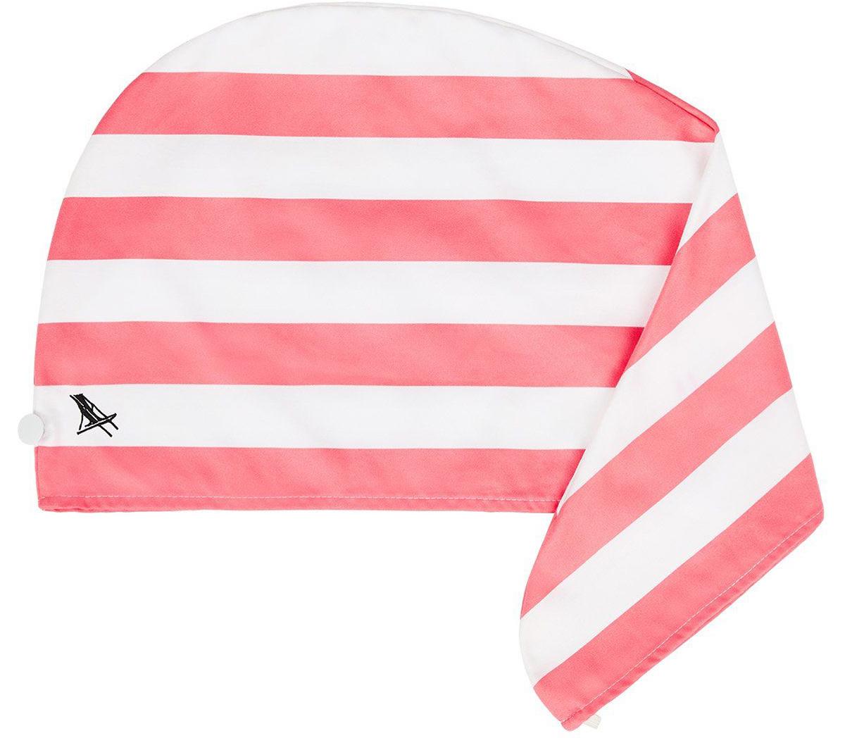 インドネシア・クタビーチのピンク(Kuta Pink)|水をサッと吸収、髪が素早く乾くマイクロファイバー製のカラフルタオル(ヘアラップ)|DOCK & BAY
