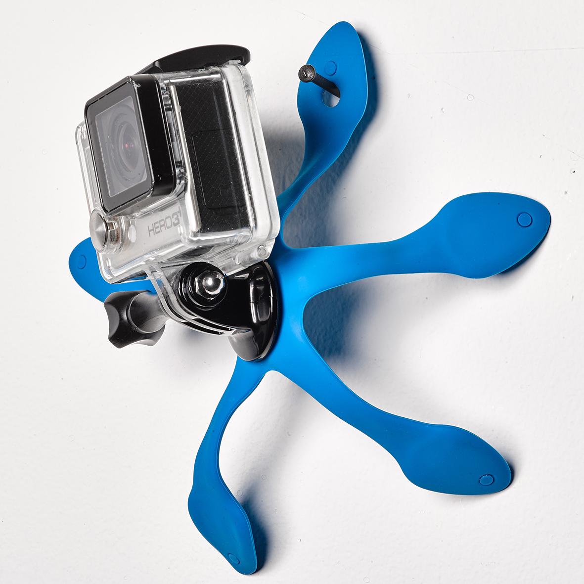 吊り下げて、壁面や車に設置|柔軟な5本足でスマホやカメラをどこにでも固定!薄くて、軽くて、コンパクトなスマホ&カメラ用スタンド| miggo