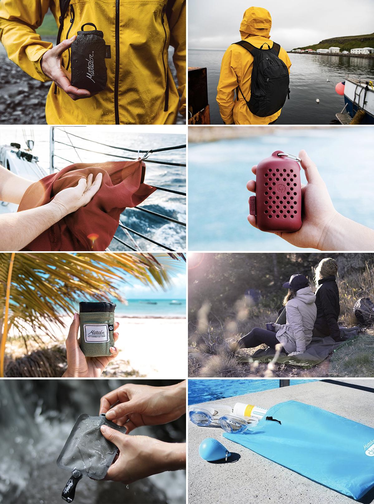 ブランドの原点のPOCKET BLANKET。いつでもどこでも気軽に広げられる手のひらサイズの撥水仕様のレジャーシート|Matador Freerain24 2.0