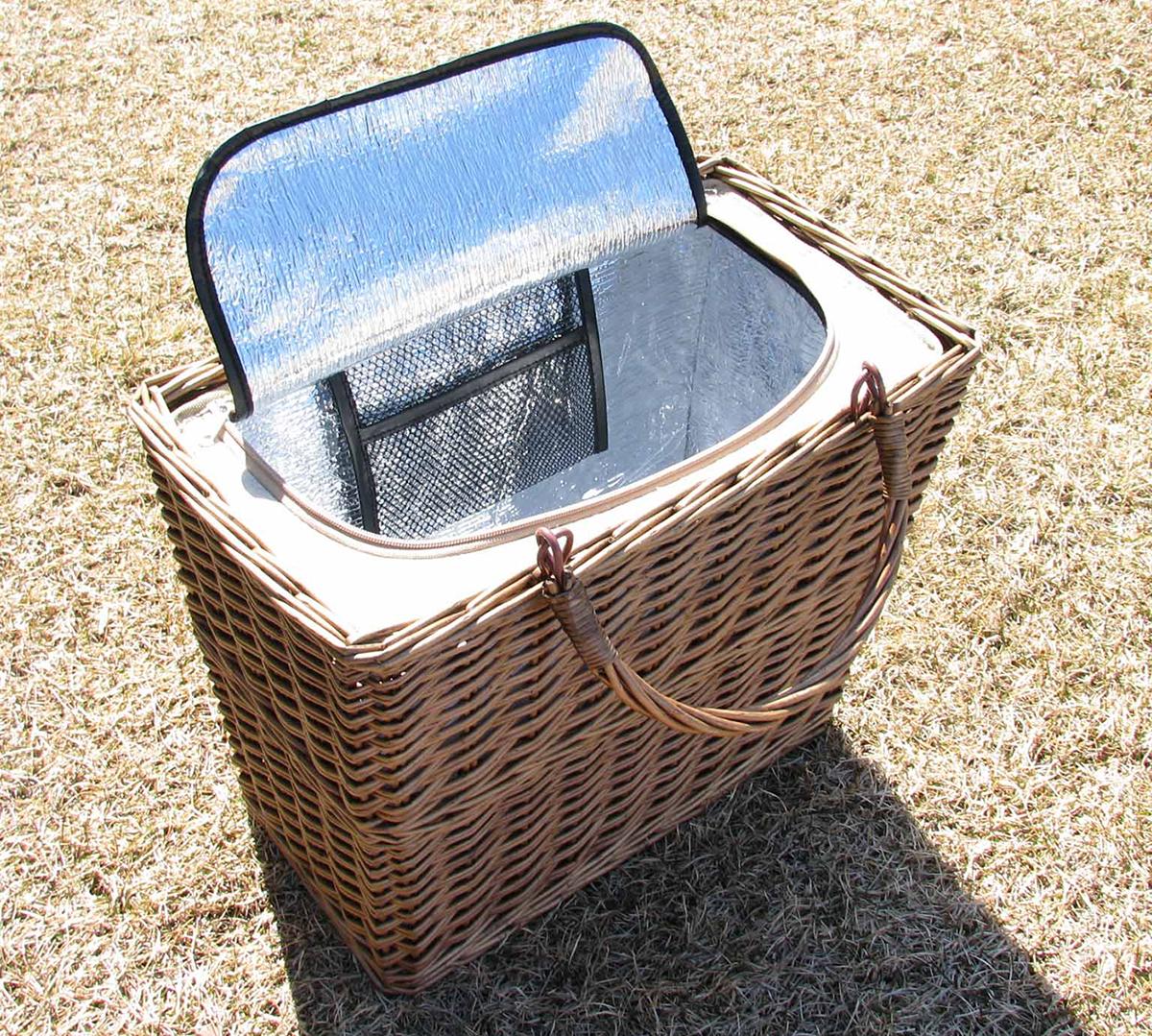 伝統的なバスケット、実は、便利な保冷バッグ|チェルシーフードクーラー