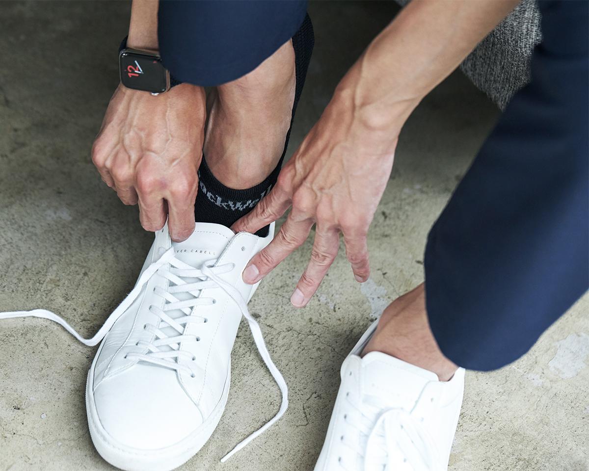 「Yヒール」編みが、かかとの丸みにしっかりフィットし、足を包み込むような履き心地 天然のエアコンと言われるメリノウールを使用。脱げにくく、ムレ知らずのフットカバー Sockwell(ソックウェル)