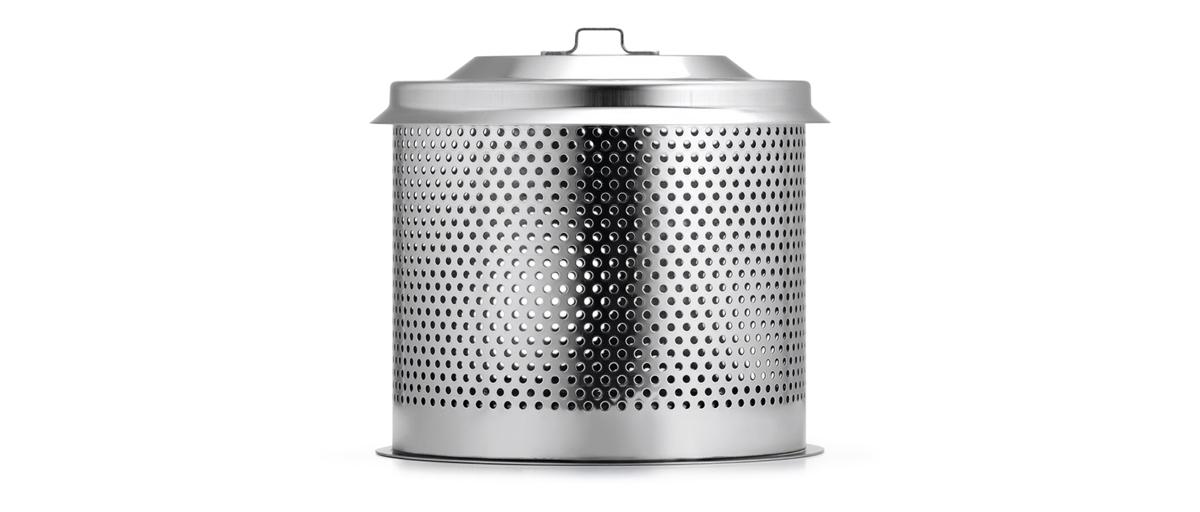炭専用コンテナ|煙が少ない火力調節ファン付きロースターで、大人の気楽なBBQができる「炭火焼グリル」(コンパクト・軽い、ミニ、スモールサイズ)|Lotus Grill