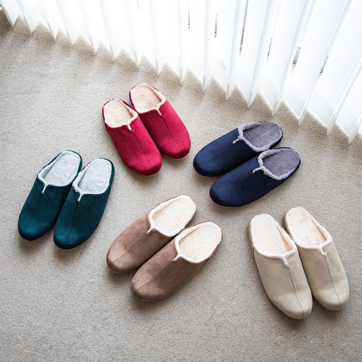 美しいデザインも魅力。靴の製法でつくった、ボアつきなのに歩きやすい「モコモコスリッパ」|room's moco
