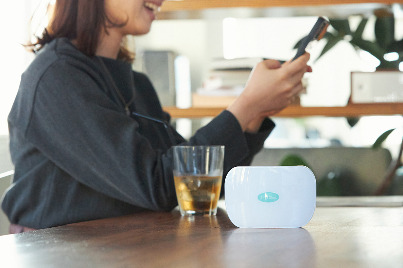 持ち歩ける携帯式オゾン発生器『Airdz Shell』。家庭内、外出先の感染症対策と臭い対策のおすすめは、オゾン除菌・オゾン消臭。ウイルス・菌を分解、不活化させる「家庭用 オゾン発生器」