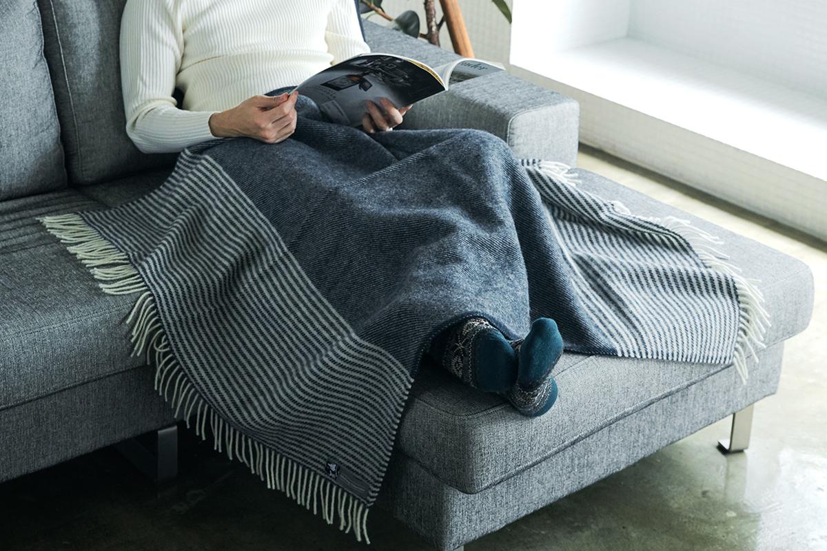 心地よい時間・空間=「ヒュッゲ(Hygge)」に欠かせない必需品といえるでしょう。膝掛け(ひざかけ)|デンマーク王室御用達のSilkeborg(シルケボー)