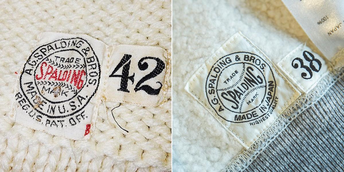 コレクターが唸る、ディテールの妙(ネームタグ)|スポルディング社の名作の復刻版。スポルディング社の名作から再構築された、動きまわり軽やかな「フットボールスウェット」|A.G. Spalding & Bros