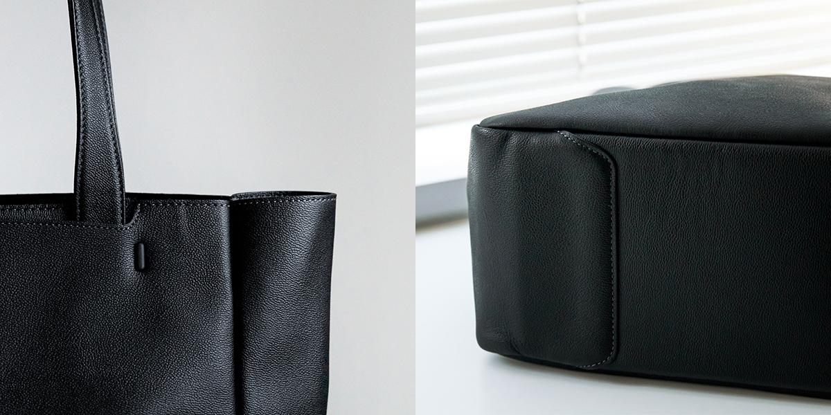 おしゃれでミニマルで都会的な印象のデザイン|防水レザー、超軽量、直感ポケット付きの日本製レザーバッグ|PCバッグ・トートバッグ・リュック・バックパック|FARO(ファーロ)
