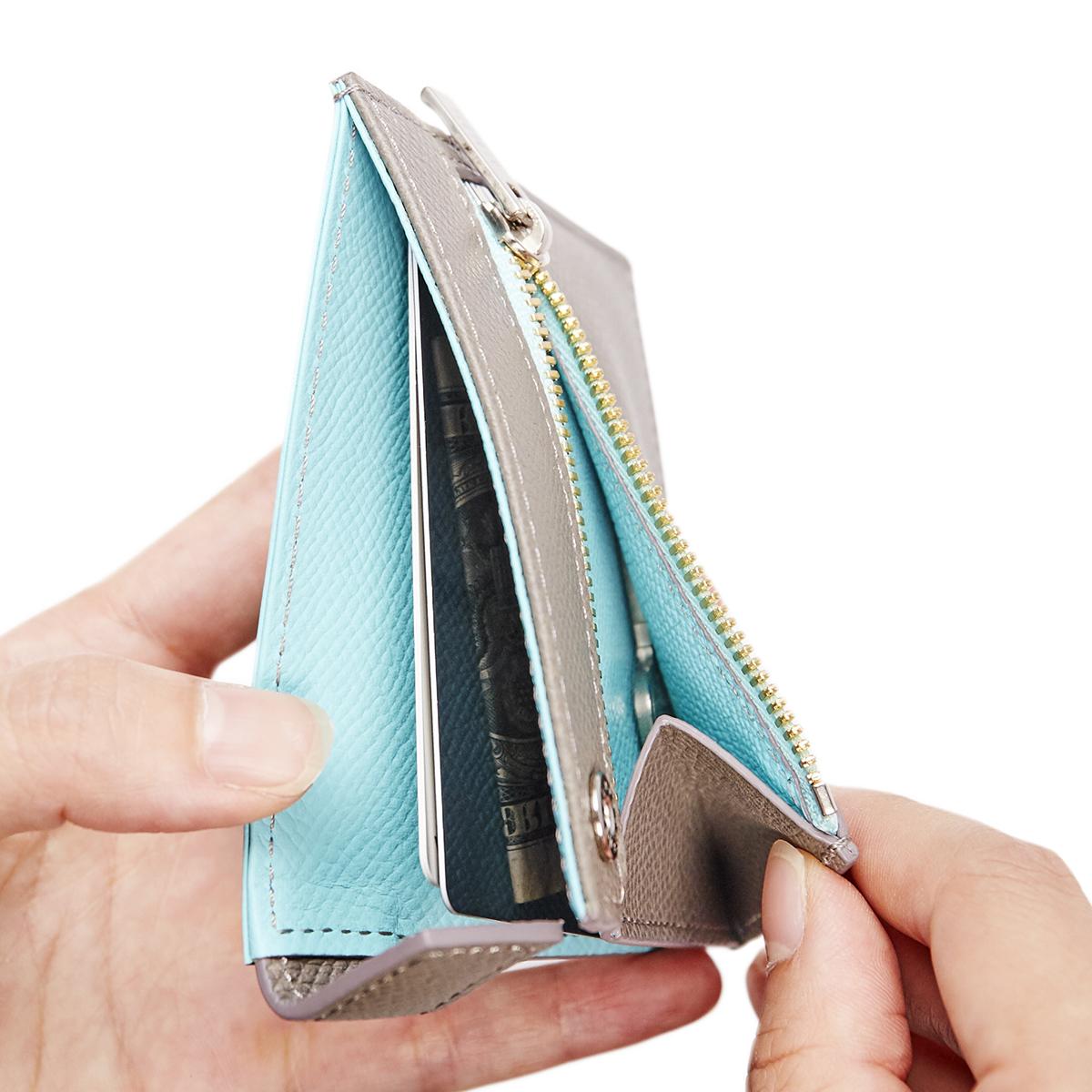 カードを見える化、カードや紙幣がひと目でわかる革財布(札入れ)|ALBERTE