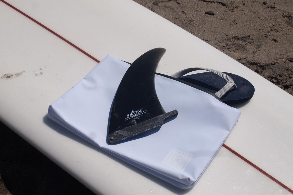 防水性のスタイリッシュなデザインのクラッチバッグ 内側