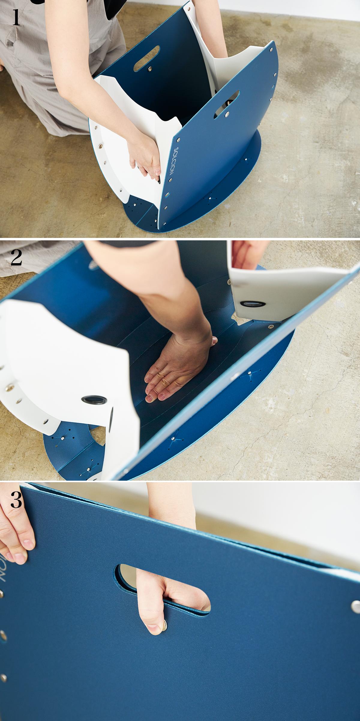 【折りたたみ方】座面を外せば、ゴミ箱・防災トイレが出現する「折りたたみイス」|PATATTO PATATTO 350+