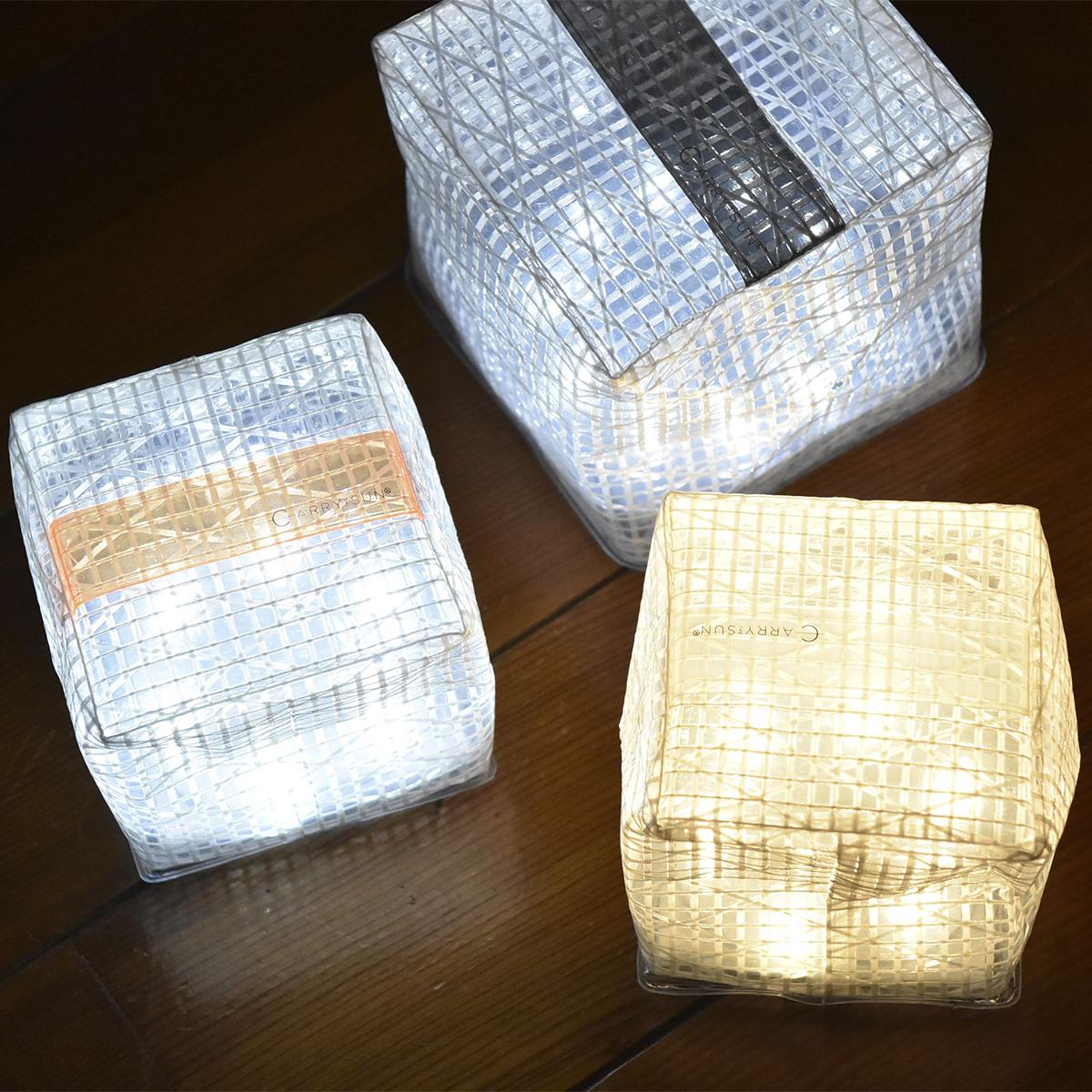 ペタンコに畳めるからバッグやポケットに入れてもかさばらない。薄さ1.2cmに畳める超軽量ソーラー充電式ライト(ランタン)で、いつも太陽の光がそばに|carry the sun